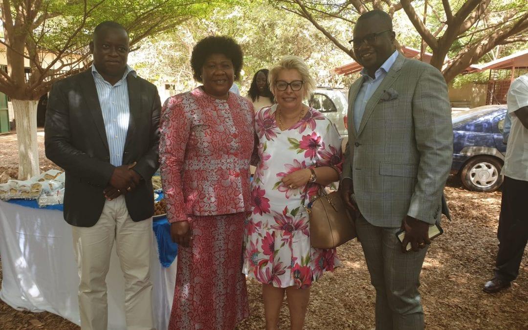 Ministra das Pescas e do Diretor da Formação das Pescas, na Cerimónia de Entrega de Diplomas de Curso do IPT