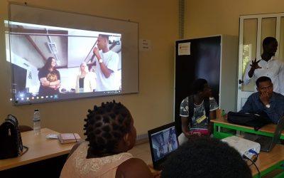 Video conferência entre os alunos do IPT e ECL-  Projeto Ser