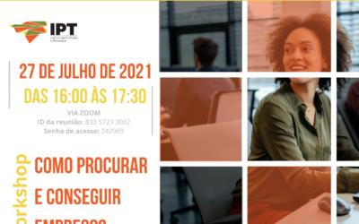 Workshop | Como procurar e conseguir emprego | 27 de julho